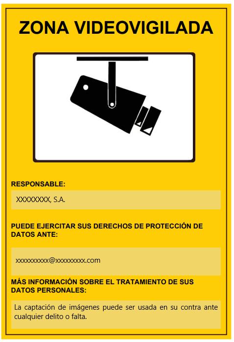 Advertencia videovigilancia